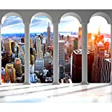 decomonkey Fototapete selbstklebend New York 392x280 cm XL Selbstklebende Tapeten