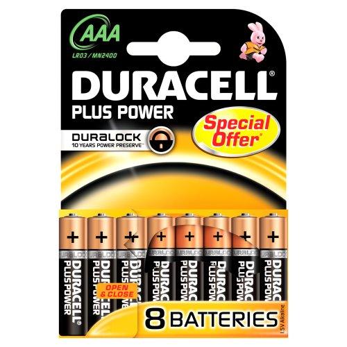 Duracell DURALOCK MN2400 AAA/Micro/LR03 Batterien Sonderangebot (8-er Pack)