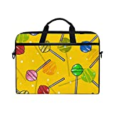 Ahomy Lollipops Candy 14-15,4 Zoll Multifunktionale Stofftasche Wasserdicht Laptop Tasche Aktentasche Schultertasche Messenger Bag