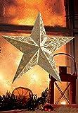 LED Stern aus Holz   mit 10 LED´s beleuchtet   kabellos   Fernbedienung   40 cm / 52 cm   verschiedene Muster   Fensterstern   Holzstern   Weihnachtsdekoration   Adventsstern (40 cm Blätteroptik)