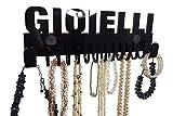 """espositore collane con scritta """"Gioielli"""" Nero. Disegno di galeara. 2 anni di garanzia. In materiale acrilico di alta qualità. espositore collane"""