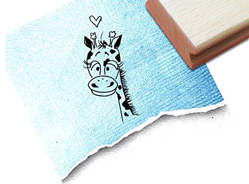 Stempel - Kinderstempel Motiv Giraffe - Bildstempel Motivstempel Geschenk für Kinder - Kita Schule Einschulung Basteln Deko - von zAcheR-fineT