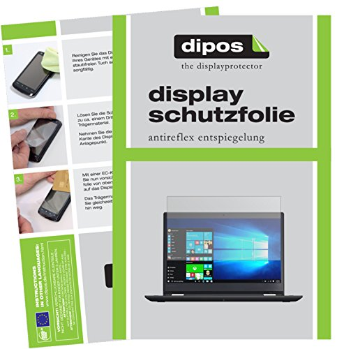 dipos I 2X Schutzfolie matt passend für Lenovo ThinkPad Yoga 370 Folie Displayschutzfolie