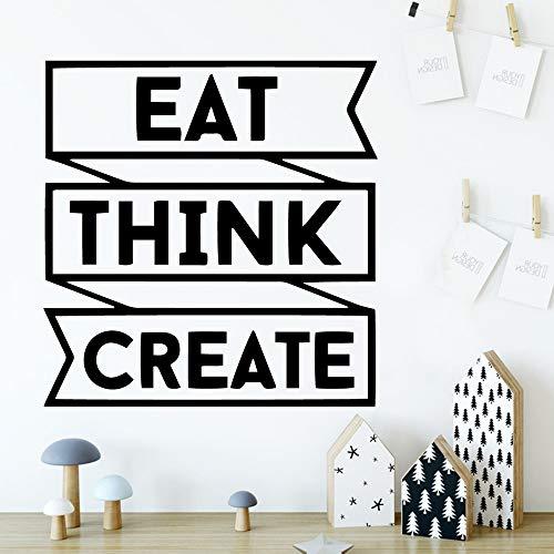 Cute Eat Think Crea Vinyl Wallpaper Roll Mobili Decorativi Nursery Room Decor Decoration Murales Soft Pink 58 * 60cm
