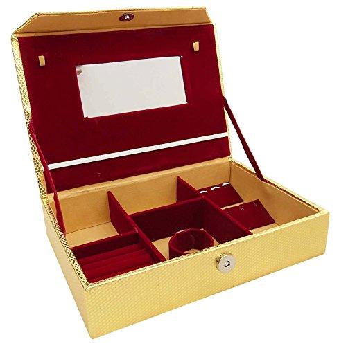 Kunstleder Schmuck Box Organizer Portable-Kasten-Speicher Vanity Bag 3 x 6,5 Zoll (Zippy Organizer)