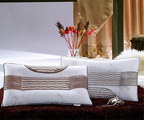 GXSCE Baumwollkissen, Memory-Foam-Nackenkissen, antiallergische und staubdichte weiße, Anti-Schnarch-Kopf weiche Unterstützung komfortable Waschkissen