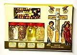 bénédiction kit bouteilles et croix à partir de la Terre Sainte de Jérusalem