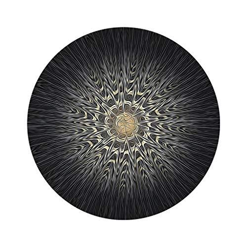 LLH DITAN Runder Teppich, hängende Korb Kissen Matte Mandala Meditationsmatte Yoga Matte schwarz (Farbe : A, größe : 120 * 120cm) (Teppich-korb)