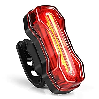 Albrillo Bike Tail Light USB Rechargeable LED Rear Bike Lights with 6 Modes, Red and White 2 Color Options, Waterproof IPX4 for Cycling Safety