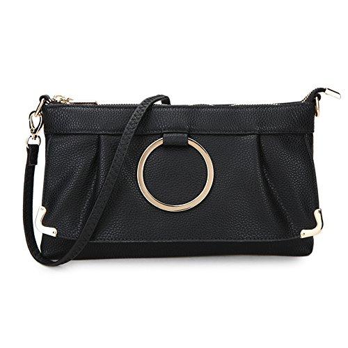 Damen Handgelenkstasche 26.Schultertasche mit lange verstellbare und abnehmbare Armband schicke stilvolle Design Geldbörse Tasche