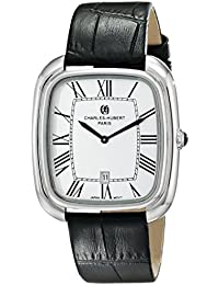Charles-Hubert, Paris Men's 3963-W Premium Collection Analog Display Japanese Quartz Black Watch