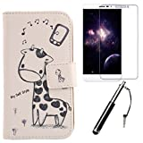 Lankashi Giraffe Design 3in1 Zubehör Set PU Flip Leder