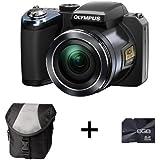 Olympus SP-820UZ Digital Camera - Black + Case and 8GB Memory card (14MP, 40x Wide Optical Zoom) 3 inch LCD Screen