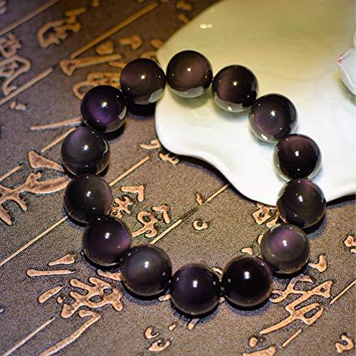 YZWD Obsidian-Armband Stretch Perlen Armband Chakra Naturstein Perlen Obsidian Natural Hand String Schmuck 18. Mm - Klar Naturals Seife