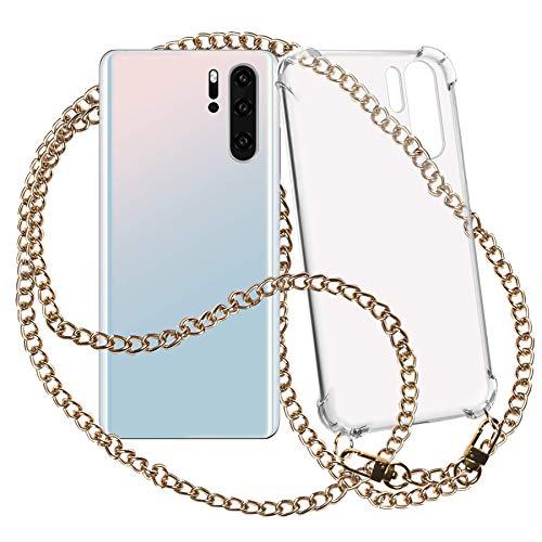 mtb More Energy® Collar Smartphone para Xiaomi Redmi Note 7, Note 7 Pro (6.3'') - Cadena de Metal (Oro) - Funda Protectora ponible - Carcasa Anti Shock con Cuerda
