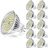 Yafido 10er GU5.3 LED Neutralweiß MR16 12V 5W Ersatz für 35W Halogen Lampen GU5.3 4500K 420 Lumen Kaltweiß Birne Leuchtmittel 120°Abstrahwinkel Spot Nicht Dimmbar Ø50 x 48 mm