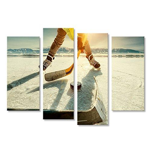 Cuadro Cuadros hockey Impresión sobre lienzo - Formato Grande - Cuadros modernos