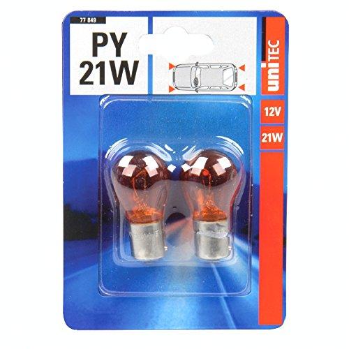 Preisvergleich Produktbild Kugellampe PY21W 21W 2Stück gelb KFZ Glühlampe Blinklicht Ersatzlampe Kugelleuchte