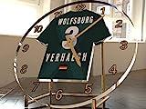Bundesliga Fußball-Uhrim Trikot-Design –personalisierbar VFL Wolfsburg