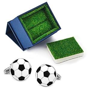 Herren Fußball Replica Manschettenknöpfe inkl. Geschenketui Rasen
