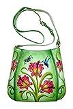 Niarvi Groen Florets handbemalt Handtasche