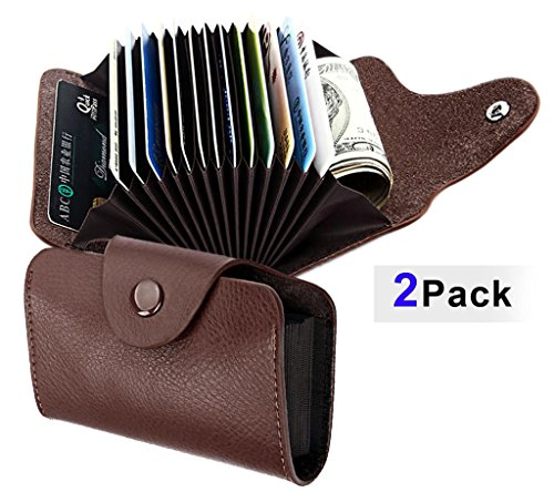 2-pack-Top-quality-leather-credit-card-holder-wallet-with-13-slots-for-men-women-Combo-offer
