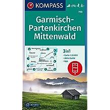 Garmisch-Partenkirchen, Mittenwald: 3in1 Wanderkarte 1:35000 mit Aktiv Guide inklusive Karte zur offline Verwendung in der KOMPASS-App. Fahrradfahren. Langlaufen. (KOMPASS-Wanderkarten, Band 790)