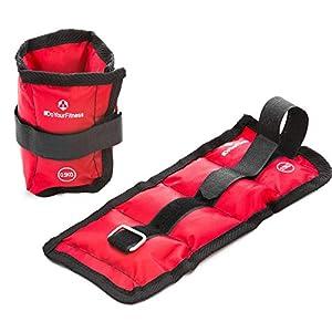 #DoYourFitness® 2er-Set Gewichte für Hand- & Fußgelenk ab 0,5kg bis 3kg – robuster Klettverschluß – Knöchelgewichte Manschetten Handgelenk Gewichte Laufgewichte