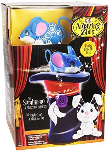 Amazing Zhus - Set sombrero y mascota mágicos (Bandai 26277)