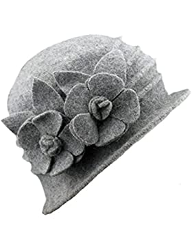 Butterme Sombrero de invierno para mujer, elegante, lana, tipo campana