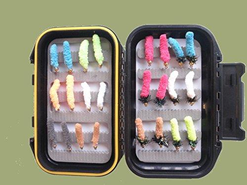 24-zoll-mop (MOP Angeln Fliegen, 24in a Box Set, gemischte Farben, Größe 8, für Fliegenfischen)
