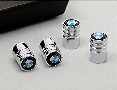 Deluxe-Ventilkappen mit BMW-Logo, verchromt, Schwarz, für die Modelle, 330C, 325i, M3, M5