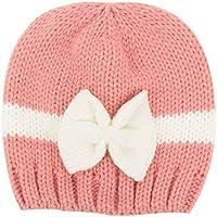 Sombrero de Tejer Niño 0-1 Años Pequeño Ganchillo de Lana Arco para Niño Sombreros de Vestir Gorros Invierno Holatee