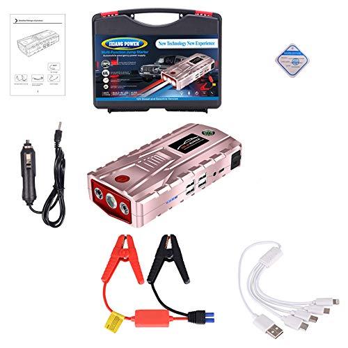 Avviatore di emergenza 800a/21000mah avviatore batterie con torcia a led schermo lcd porta usb per motori 12v jump starter,rosa