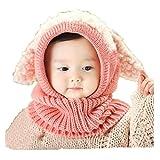 Babybekleidung Hüte & Mützen Longra Niedlich Winter Baby Kinder Mädchen Jungen Warm Woll Haube Kapuze Schal Mützen Hüte (Pink)