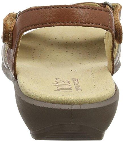 Hotter Damen Flare EXF Offene Sandalen mit Keilabsatz Brown (Tan Multi)