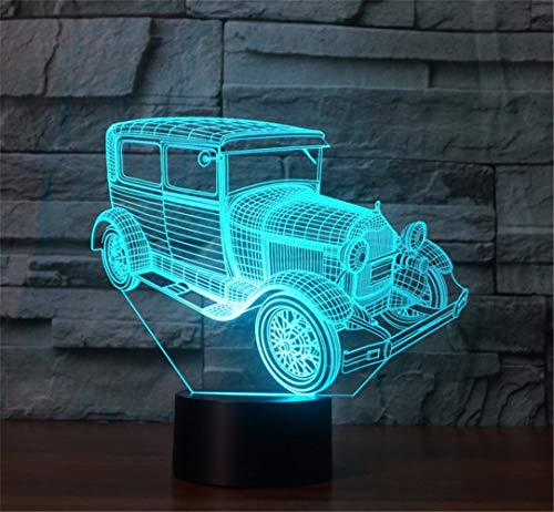 3D Nachtlicht Sportwagen bunte visuelle Stereo-LED 3D Licht Acryl Licht Fernbedienung Touch visuelle Atmosphäre Licht Kinder Geschenk Brille ## 8