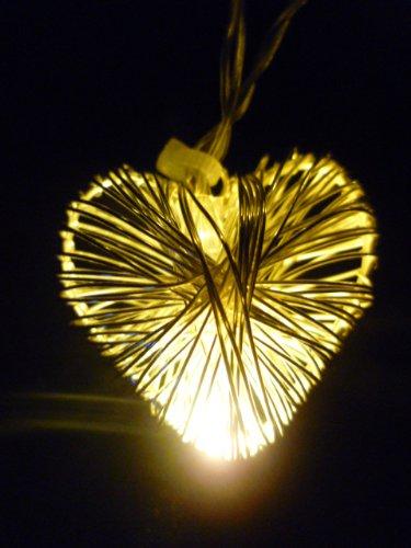 LED-Highlights-Deko-Lichterkette-10-Metall-Herz-Batterie-10-Mikro-LED-warmwei-auf-Kupferdraht-14-m-Micro-Beleuchtung-Stimmungslicht-Innen-Auen