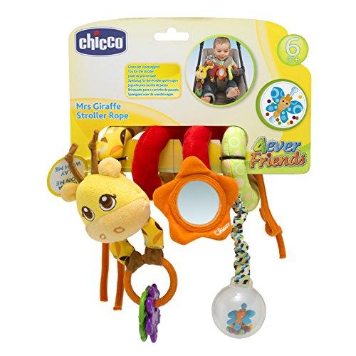 Chicco - Mrs. Giraffe Stroller Rope Juguete para Carrito de Bebés