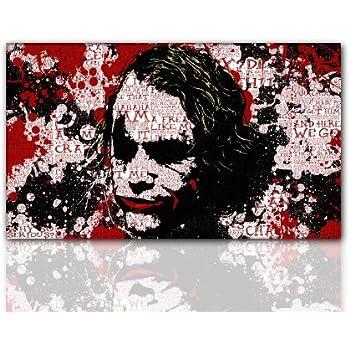 wow wandbild xxl the dark knight joker red. Black Bedroom Furniture Sets. Home Design Ideas