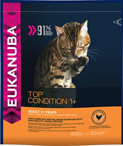 Eukanuba Katzenfutter Erwachsene TOP-Zustand Eins plus 400 g