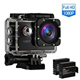 Action Kamera Action Camera Sports wasserdichte Kamera Action Cam Full HD 1080P 170°...