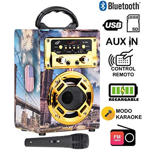 Dynasonic 120-3 - Mini Altavoz Bluetooth Portátil