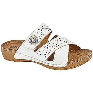 Gezer ,  Damen Peep Toes , M/White - Größe: - 39 EU