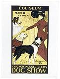 Der Hund Show–Retro Style Poster Advertising Style groß Baumwolle Geschirrtuch