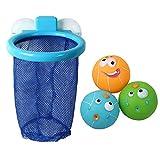 Joyibay 3PCS Bambino Giocattolo con Palla da Bagno Canestro da Basket e Ball Balneazione Basket Impostato