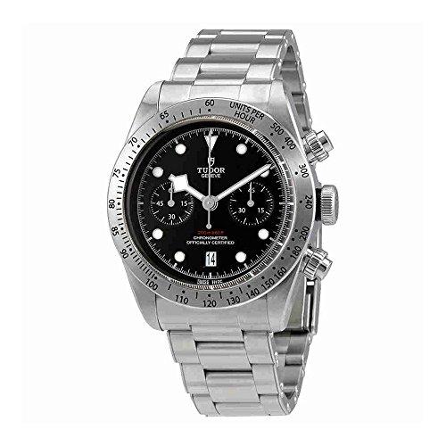 Tudor Patrimonio Negro Bahía Chrono 41mm Hombres del reloj 79350–0001