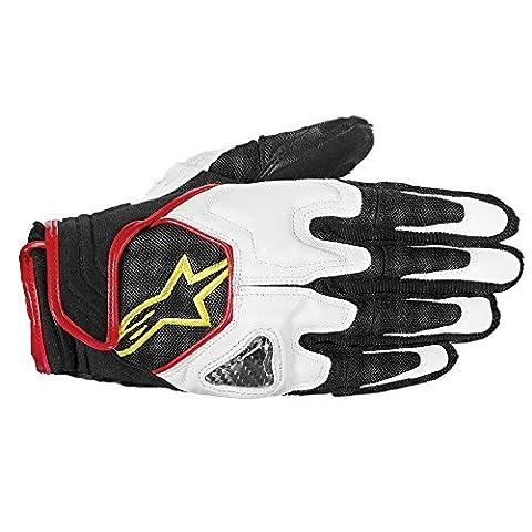 3502612 125 XL - Alpinestars Scheme Textile Motorcycle Gloves XL Black White Yellow Fluorescent