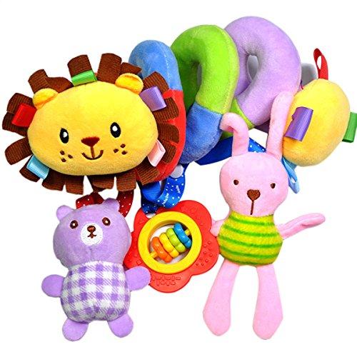 TININNA Baby Plüsch Tier Spirale Aktivität Spielzeug Bett Hängen Baby Säugling Krippe Kinderbett Kinderwagen Hängen Rasseln Spielzeug Spirale Kinderwagen Autositz Spielzeug EINWEG Verpackung