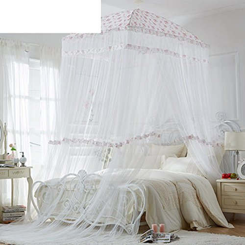 Extra große größe runde hoop bett baldachin netting moskitonetz passen krippe,Twin,Vollständige,Königin,König-Weiß - Netting-bett Schwarz